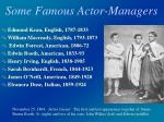 some famous actor managers
