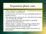 expansion phase cont