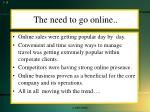 the need to go online