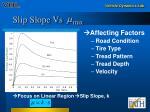slip slope vs