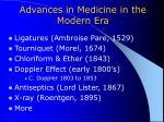 advances in medicine in the modern era