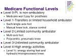medicare functional levels