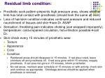 residual limb condition