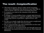 the result complexification