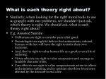 what is each theory right about