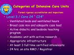 categories of intensive care units