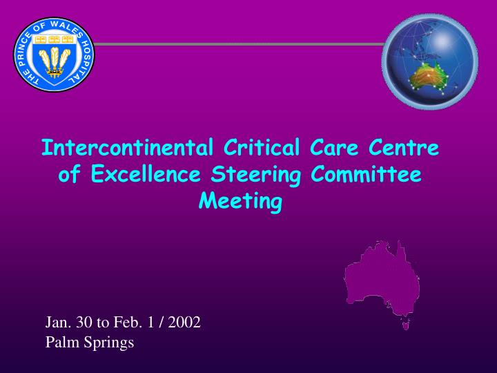 intercontinental critical care centre of excellence steering committee meeting n.