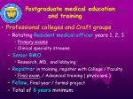 postgraduate medical education and training