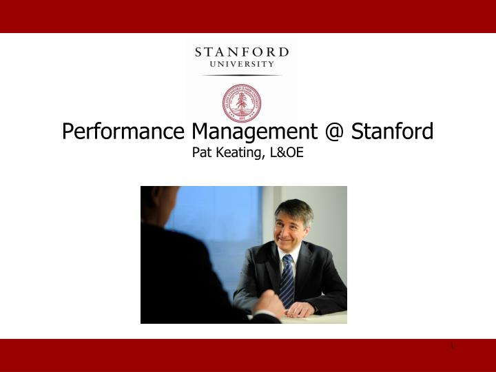 performance management @ stanford pat keating l oe n.