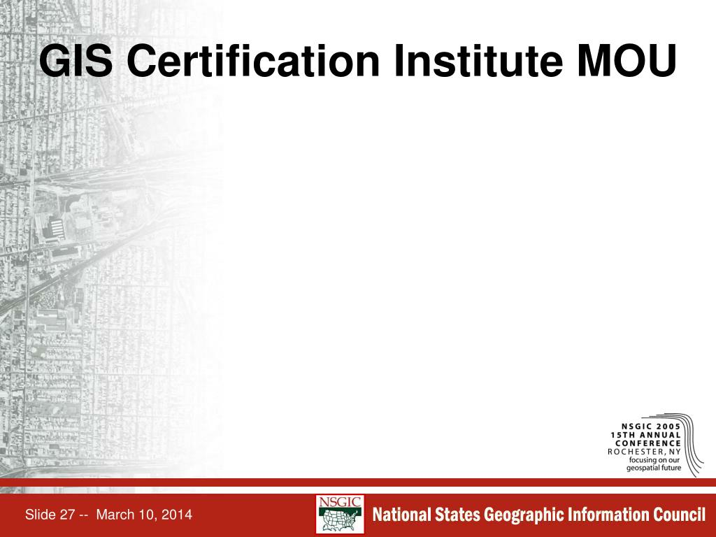 GIS Certification Institute MOU