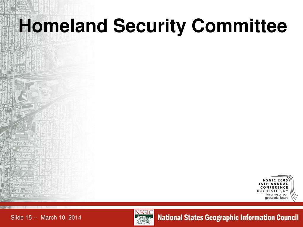 Homeland Security Committee