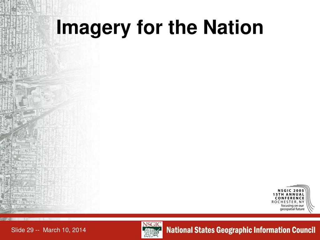 Imagery for the Nation