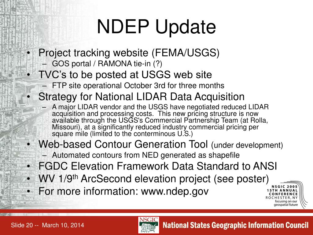 NDEP Update