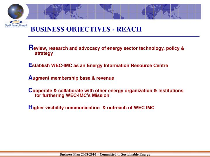 Business objectives reach