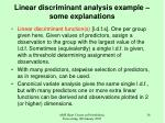 linear discriminant analysis example some explanations