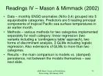 readings iv mason mimmack 2002