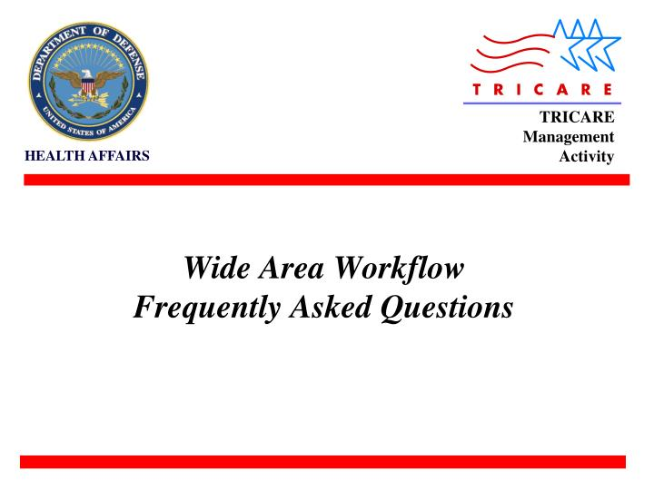 wide area workflow frequently asked questions n.