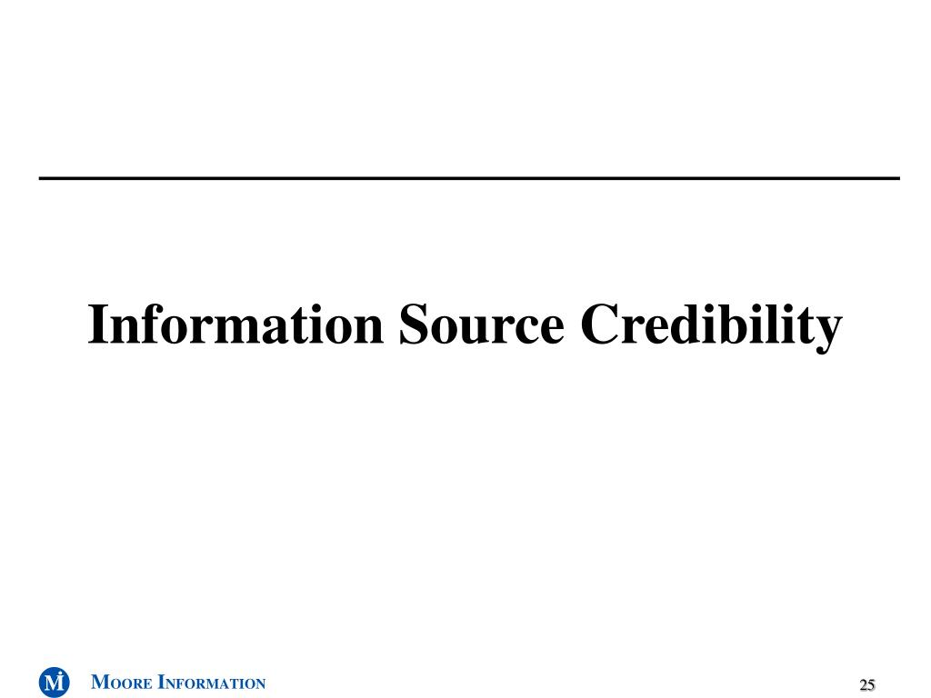 Information Source Credibility