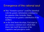 emergence of the rational soul