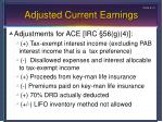 adjusted current earnings1