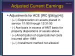 adjusted current earnings2