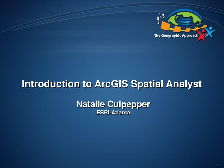introduction to arcgis spatial analyst n.