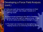 developing a force field analysis cont