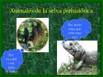 animales de la selva prehist rica