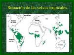 situaci n de las selvas tropicales