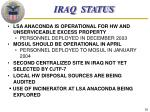 iraq status
