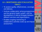 a 4 monitoring and evaluation m e