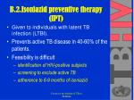 b 2 isoniazid preventive therapy ipt