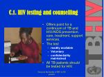 c 1 hiv testing and counselling