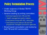 policy formulation process