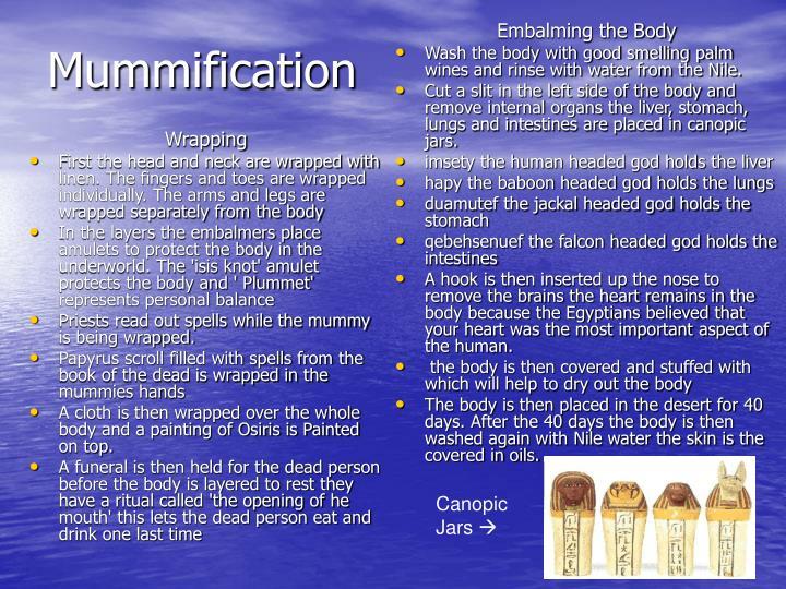 Embalming the Body