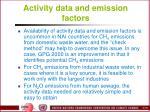 activity data and emission factors1