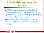 activity data and emission factors2