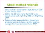 check method rationale1