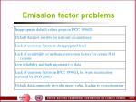 emission factor problems