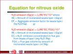 equation for nitrous oxide