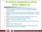 inventory preparation using ipcc 1996gl 2