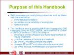 purpose of this handbook