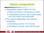 waste composition