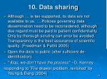 10 data sharing