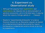 4 experiment vs observational study