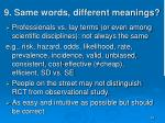 9 same words different meanings