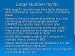 large number myths