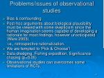 problems issues of observational studies