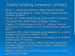 useful reading research articles