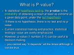 what is p value